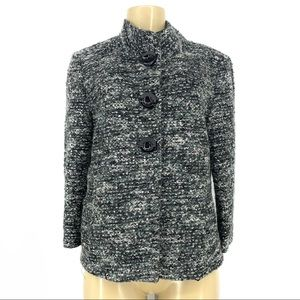 Tahari wool blend snap down blazer